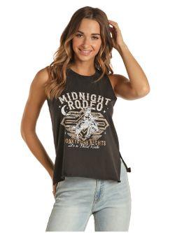 Ladies Panhandle Slim Midnight Rodeo Tank
