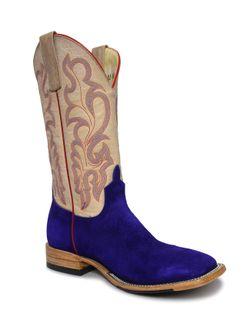 Ladies Macie Bean Split Purple Suede Boots