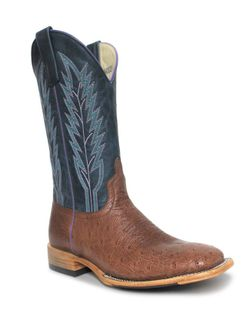 Ladies Macie Bean Rum Brown Smooth Ostrich Print  Boots
