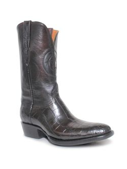 Mens Black Jack  Black Cherry Alligator Belly Boots