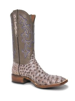 Mens Black Jack The Chayce Kango Full Quill Ostrich Boots