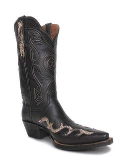 Ladies Black Jack Chocolate  Python Boots