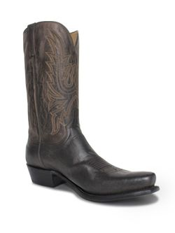 Mens Lucchese Tan Burn Goat Boots