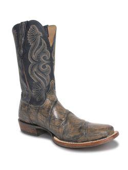 Mens Lucchese Tan Stonewash Gator Boot