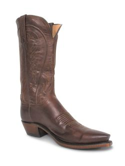 Ladies Lucchese Tan Burnished Ranch Hand Boots