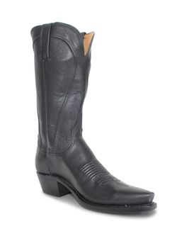 Ladies Lucchese Black Burnished Ranch  Hand