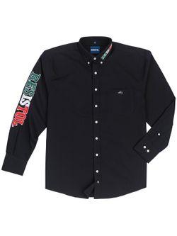 Mens Resistol Team Mexico Black Long Sleeve Shirt