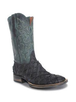 Mens Black Jack Pirarucu Black Matte Boots