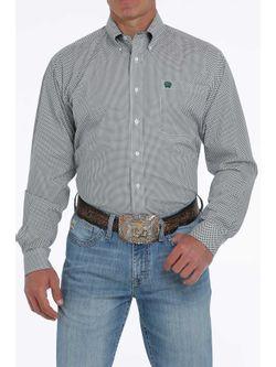 Mens Cinch Polka Dot Printed Long Sleeve Shirt