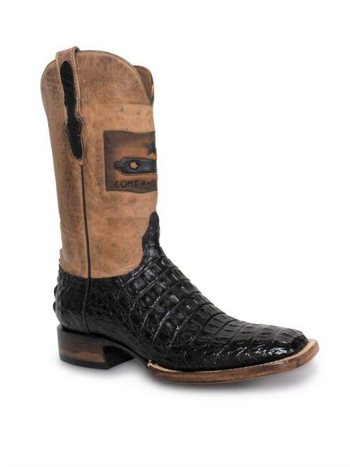 Mens Black Jack Gonzales Flag Hornback Boots