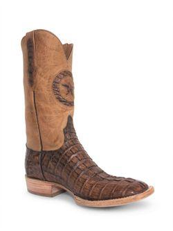 Mens Black Jack Cigar Caiman Tail Cowboy Boots
