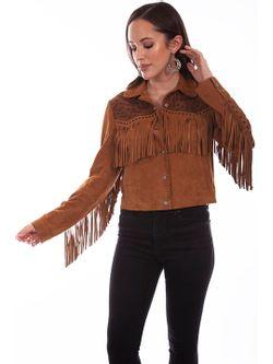 Ladies Scully Cognac Soft Suede Jacket Jacket