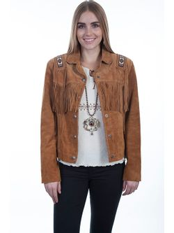 Ladies Scully Hand Laced Beaded Trim Jacket