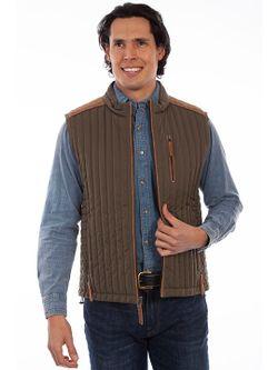 Mens Scully Olive Ribbed Vest