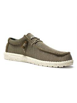 Mens Hey Dude Wally Sox Sand Casual Shoe