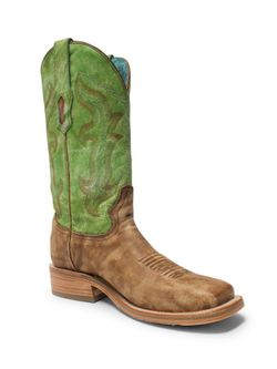 Ladies Corral Sand Green Embroidery Top Boots