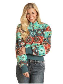 Panhandle Slim Aztec Womens Fleece Pullover