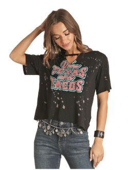 Ladies Panhandle Slim Viva Texas & Tacos Short Sleeve Shirt