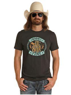 Mens Panhandle Slim Rodeo Ol Son Team Short Sleeve Shirt