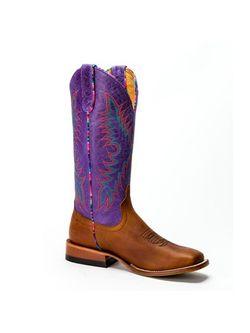 Ladies Macie Bean Brass Purple Sinsation Boots
