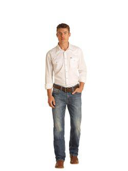 Mens Panhandle Slim Reflex Double Barrel Dark Wash Jeans