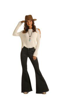 Ladies Panhandle Slim  Black Juniors High Rise Pullon Jeans