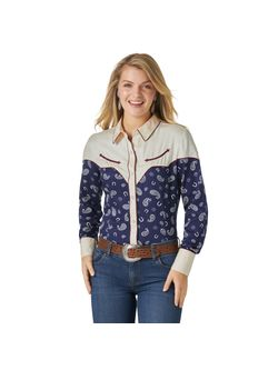 Wrangler Ladies Paisley Retro Shirt