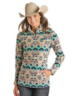 Panhandle Slim Ladies Zip Pullover Grey