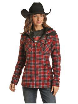 Panhandle Slim Ladies Zip Fleece Scarlet