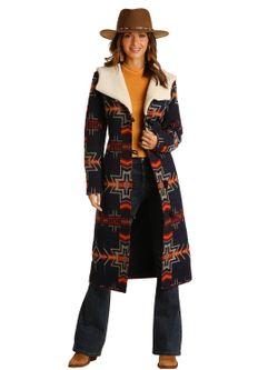 Panhandle Slim Ladies Long Aztec Coat