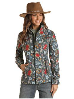 Panhandle Slim Ladies Floral Fleece