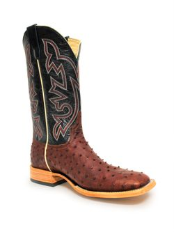 Horse Power Brandy Lux Ostrich Boots