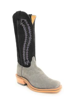 Olathe Mens Gray Chaparral Roughout Tall Top Boots