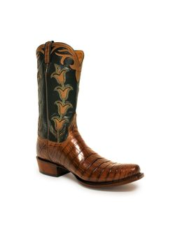 Lucchese Bootmaker Mens Classic Antique Mink Nile Crocodile Belly