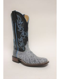 Anderson Bean Mens Black Rio Smooth Ostrich Boots