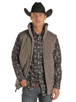 Panhandle Slim Mens Charcoal Powder River Vest