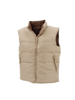 Resistol Mens Reversible  Wheat and Brown Down Vest
