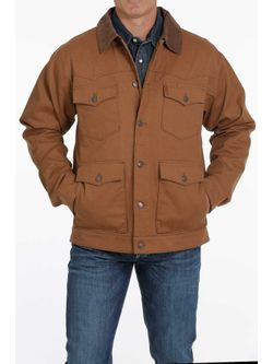 Cinch Mens Brown Canvas Jacket