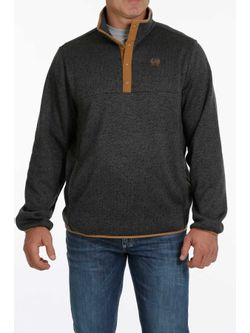 Cinch Mens Charcoal Snap Pullover
