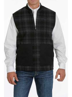 Cinch Mens Black Reversible Vest