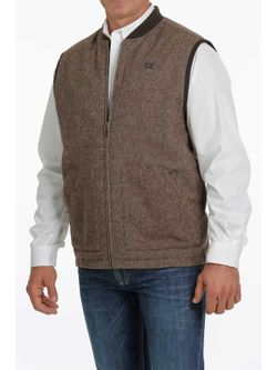 Cinch Mens Reversible Brown Vest