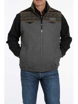 Cinch Mens Charcoal Wooly Vest